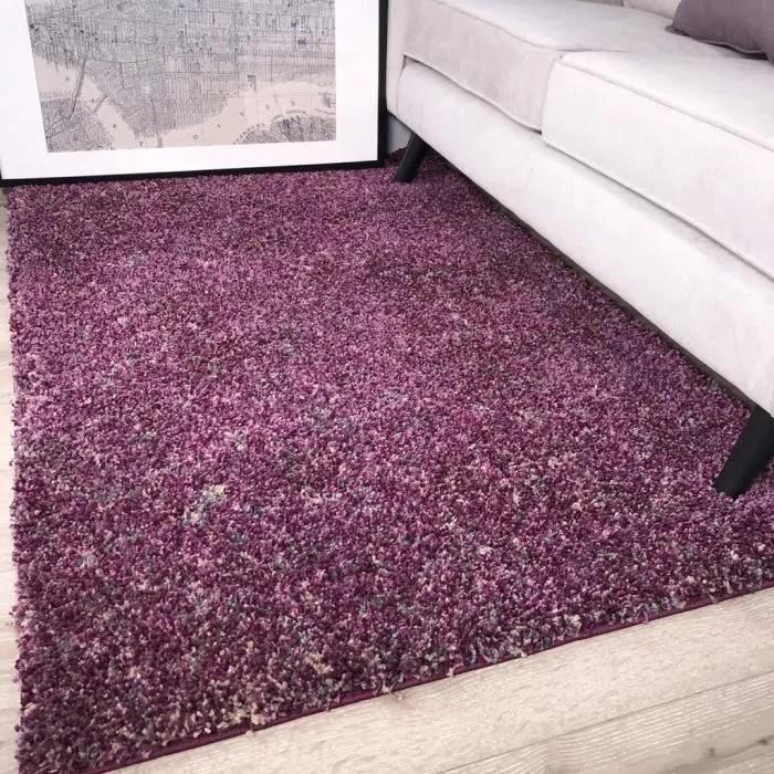 tapis murano violet prune baie et gris creme taupe