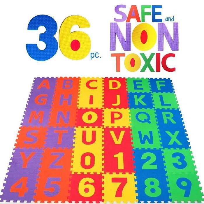 puzzle tapis mousse non toxique 36 pcs jeu educat