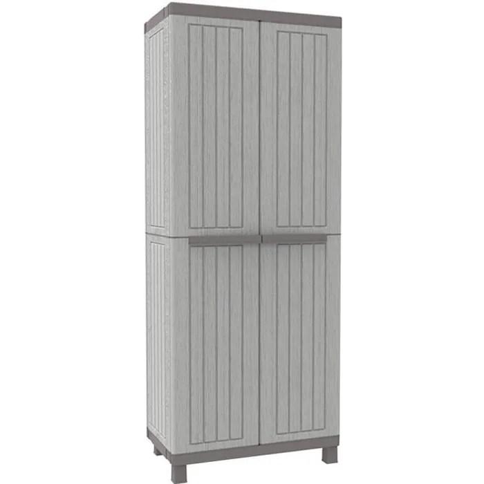 armoire d exterieur en resine gris meuble haut ave