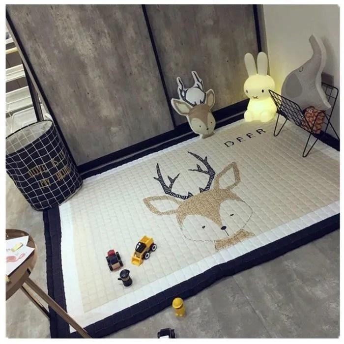 tapis enfant epais jeu anti derapant bebe decorati