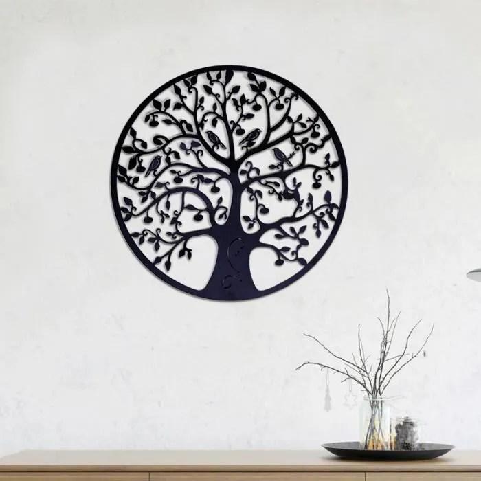 neufu 60x60cm arbre de vie fer decoration murale r