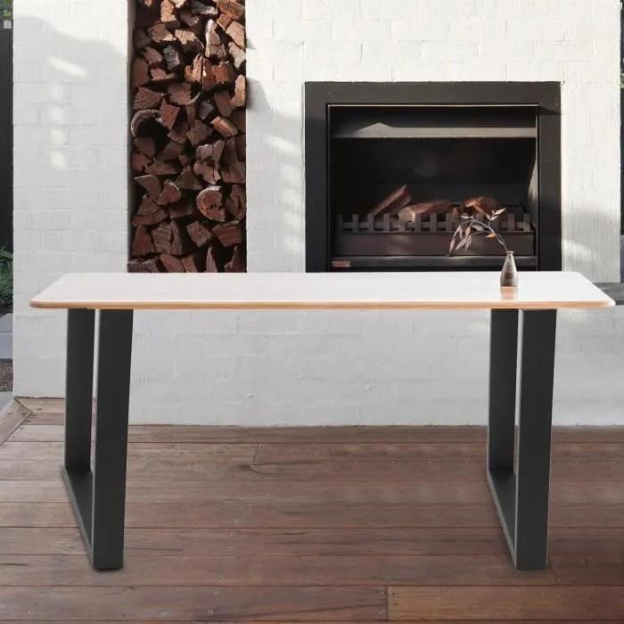 2pcs pied de table industriel en acier pour meubles a la maison attention la couleur est noire ou grise expediee au hasard