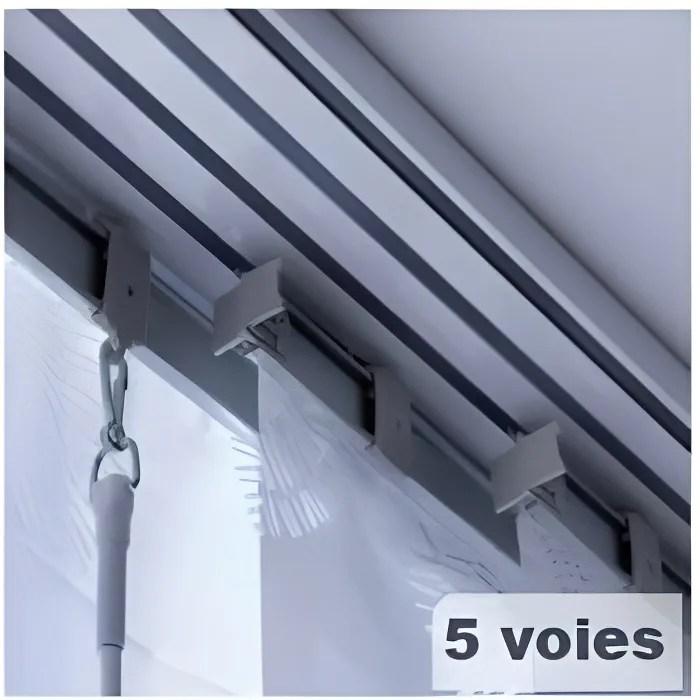 madecostore rail aluminium gris pour panneau japon