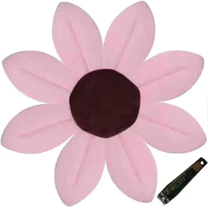 baignoire bebe coton tapis de bain fleur de lotus