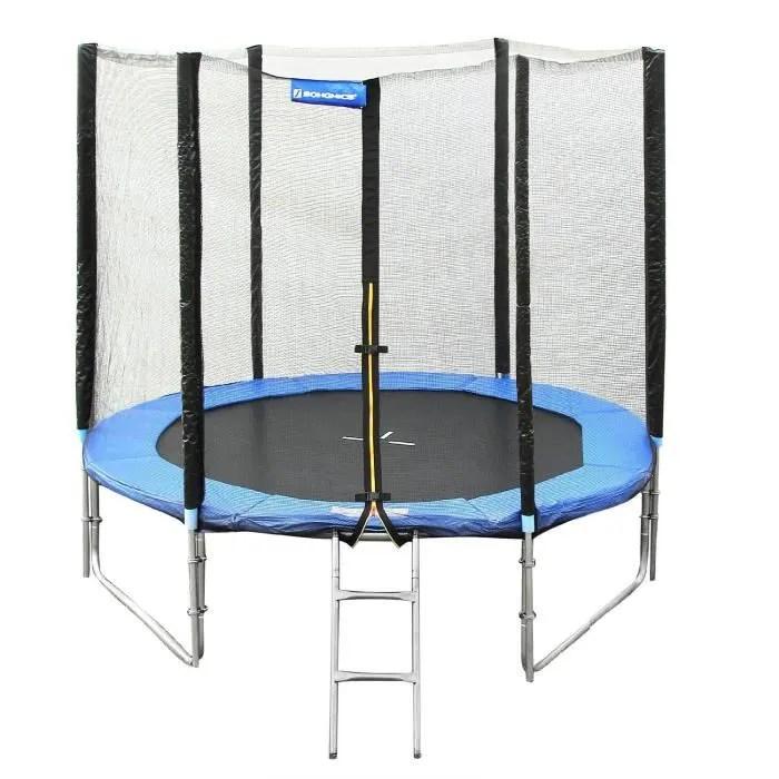 trampoline o 244 cm avec filet de