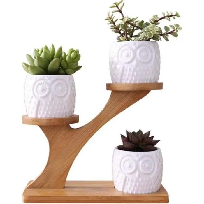 pot de fleur interieur etagere a fleurs en bois support plante porte plantes pour cactus plantes en pot et plantes succulentes 1