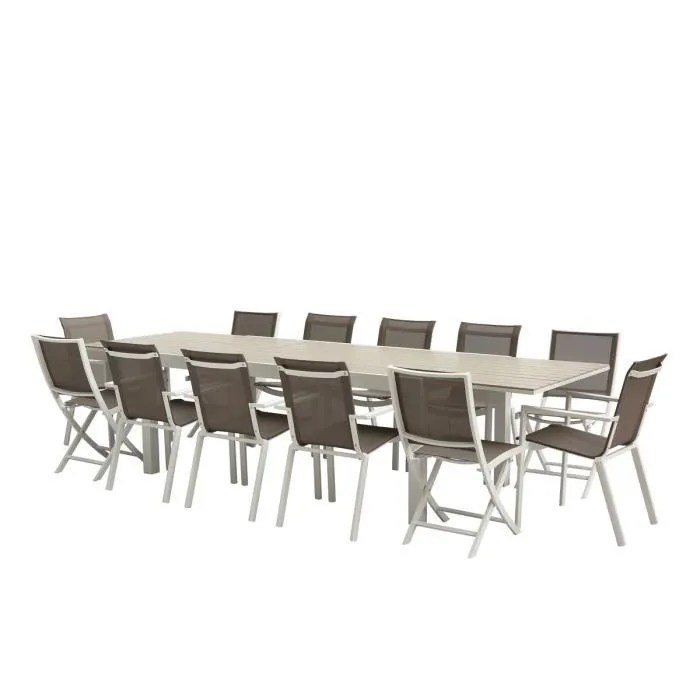 ensemble table chaises tulum