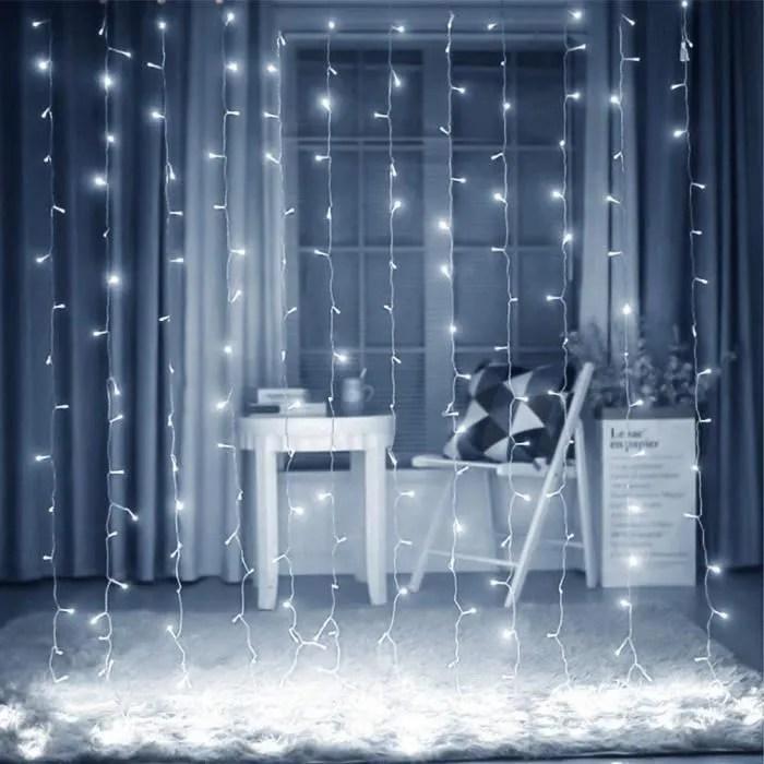 rideau lumineux 6 2 9m 300 led lumineuses blanc fr