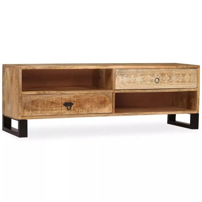 meuble tv meuble salon support tv bois massif de m
