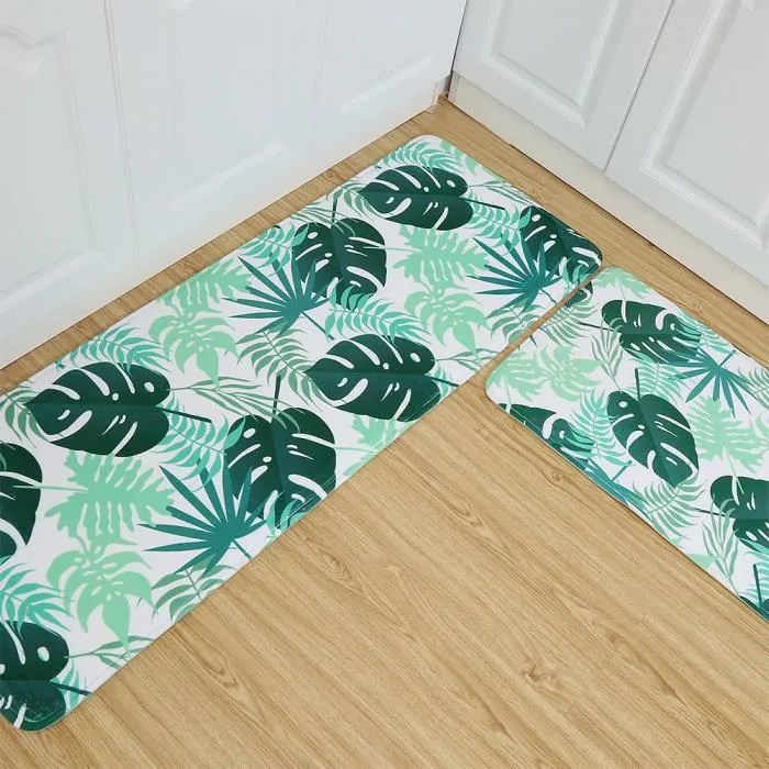 lot de 2 tapis de cuisine devant evier 45 x 120cm