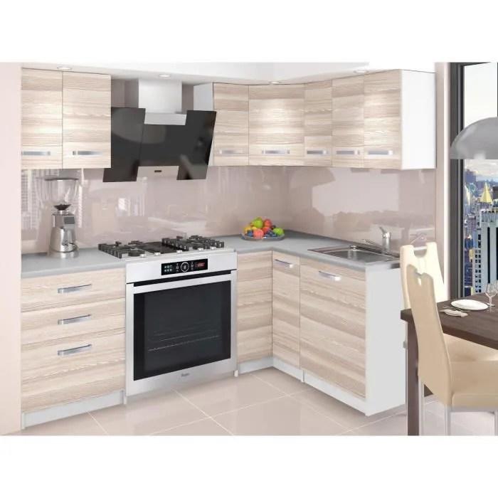 darcia cuisine complete d angle modulaire l 300 cm 8pcs plan de travail inclus meubles cuisine aspect bois wenge