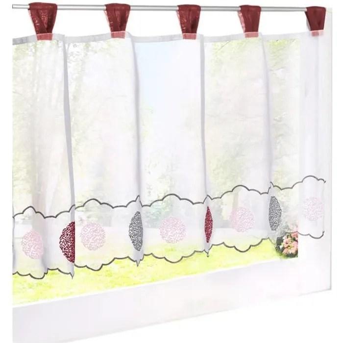 1pc brise bise avec broderie rideau voilage en polyester courts decoration de fenetre chambre salle de