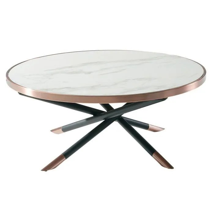ceciliane table basse ronde plateau ceramique