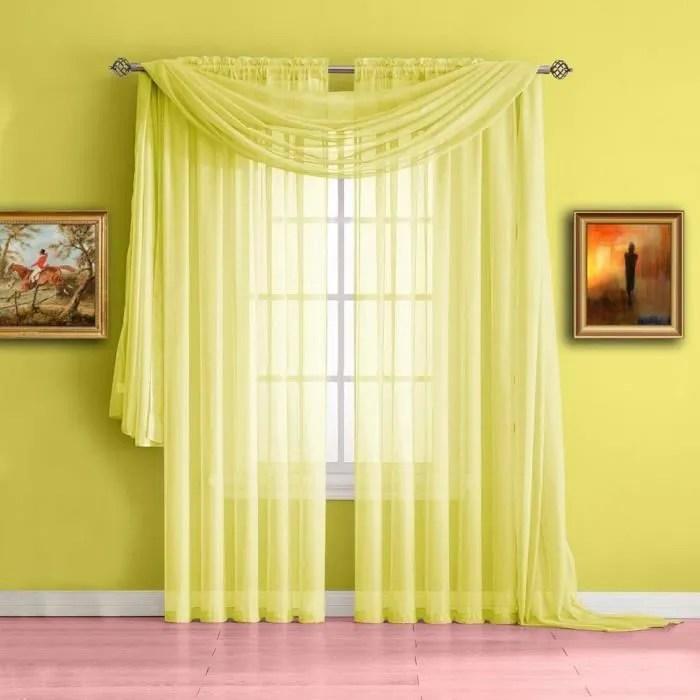 145x300cm rideau voilage jaune rideaux