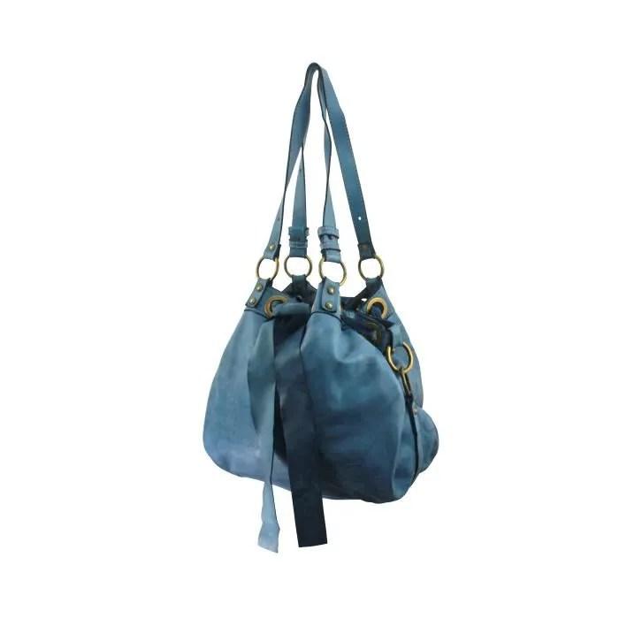 sac cuir vintage femme ferzalata italie couleur bleu jeans