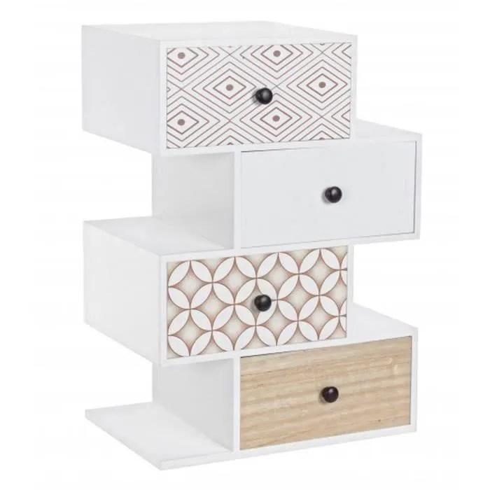 petit meuble avec 4 tiroirs en bois dim l 50 x