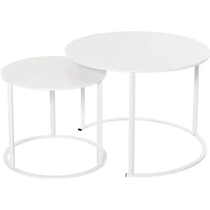 jardin table ronde blanc