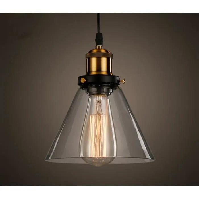 industrielle vintage verre suspensions luminaire r