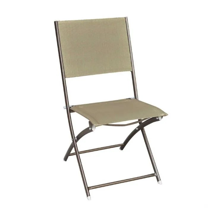 chaise pliante en metal epoxy et