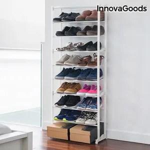 tectake meuble a chaussures 10 etageres