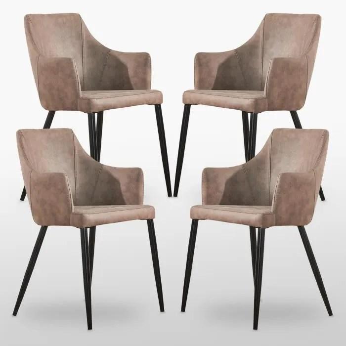 zarah lot de 4 chaises de salle a