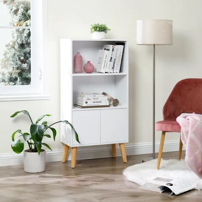 bibliotheque a 3 niveaux style scandinave 60 x 3