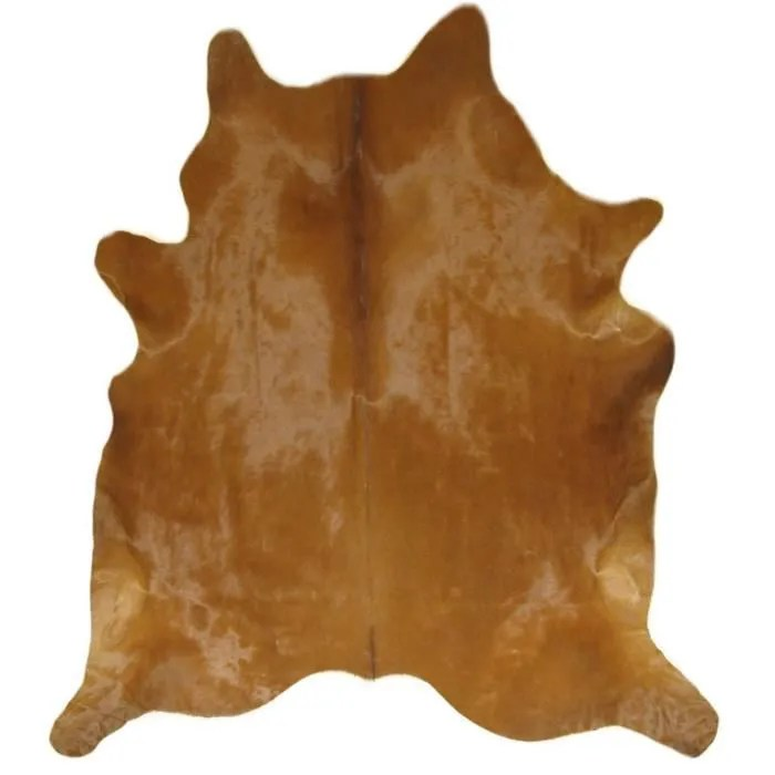 tapis peau de vache marron 224 cm x 218