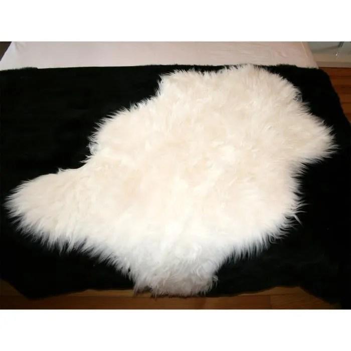 tapis mouton blanc