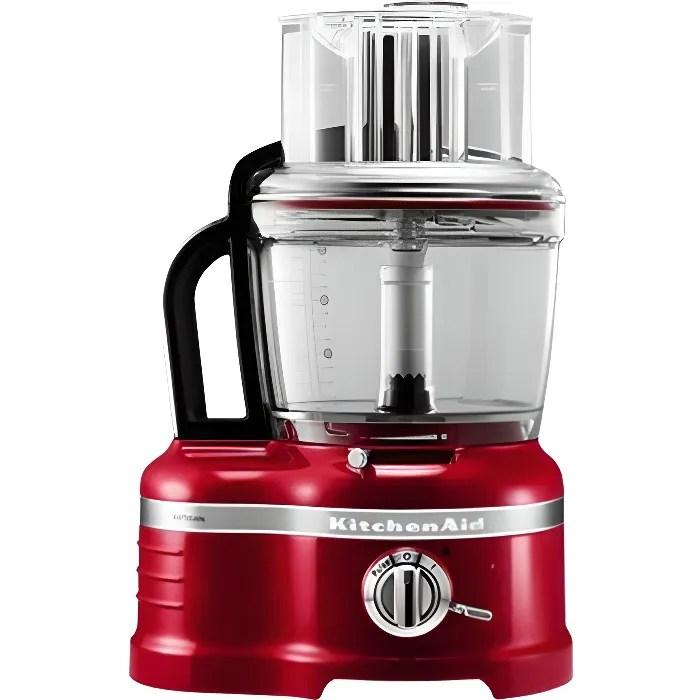 kitchenaid robot menager 4l 650w rouge pomme d amour 5kfp1644 eca