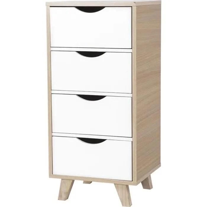 petit meuble armoire de rangement armoire de plancher en bois avec 4 tiroirs pour salle de bain cuisine salon maison etc