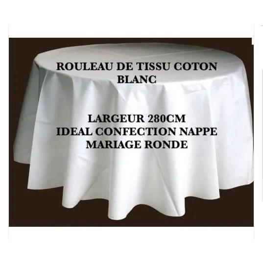 tissu blanc grande largeur coton 280cm
