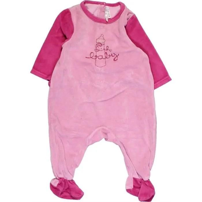 Pyjama 1 Piece Bebe Fille Orchestra 6 Mois Rose Hiver Vetement Bebe 1063295 Rose Achat Vente Pyjama Cdiscount