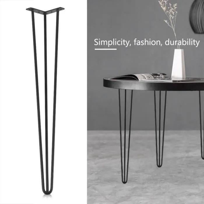 pied de table ensemble de 4 pieds de table en fer