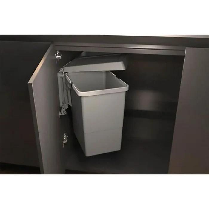 poubelle de cuisine encastrable wy 24 litres gris