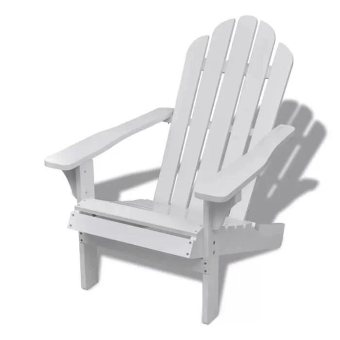 chaise de jardin salon patio terrasse en bois fauteuil detendu avec famille ou amis blanc
