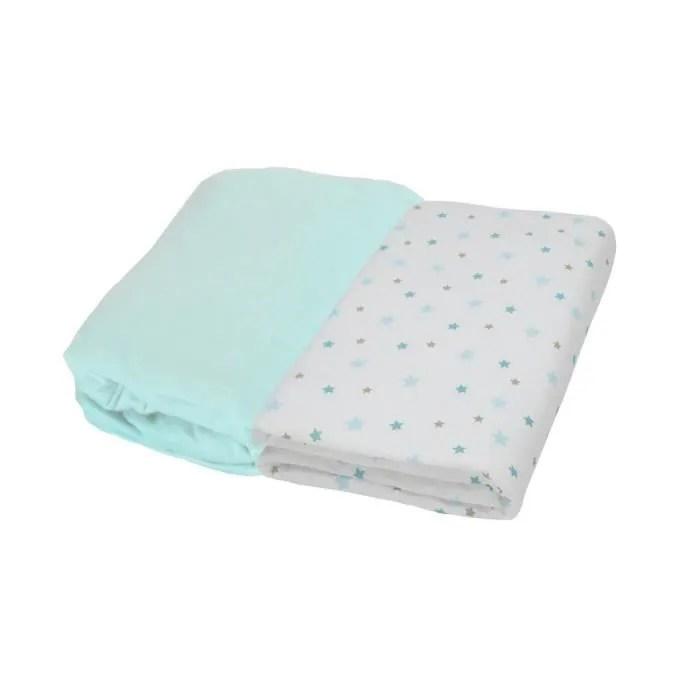 lot de 3 draps housse coton pour lit