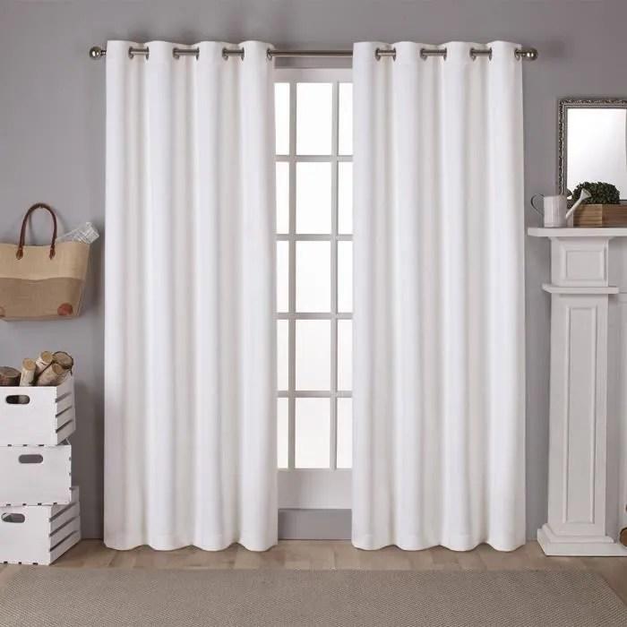 rideau opaque 140 x 260cm blanc the cover paris