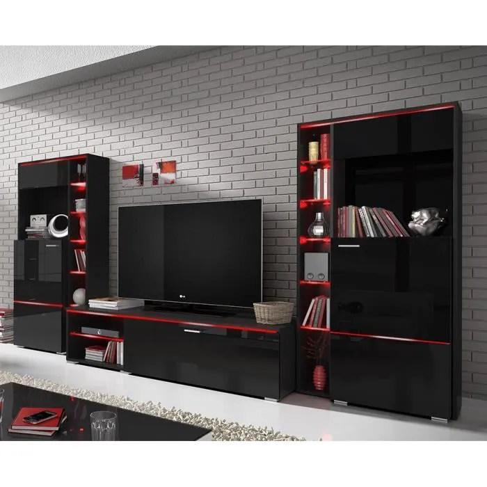 meuble tv ensemble meuble tv noir laq