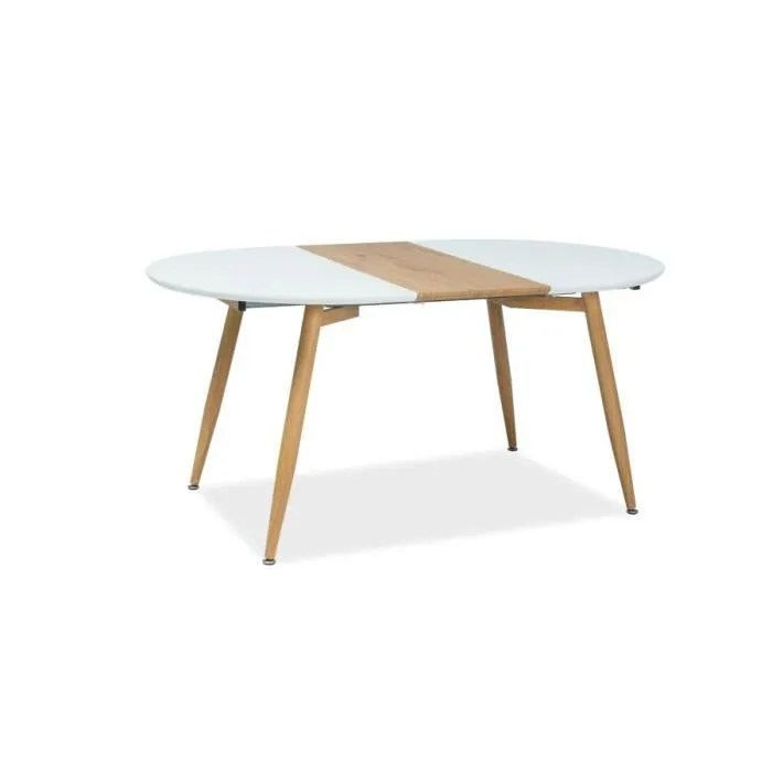 avom grande table ronde avec base en metal style scandinave 120x100x75 cm plateau en mdf extensible pour salle a manger