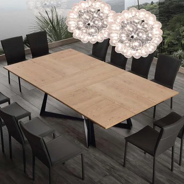 table extensible 10 personnes en bois et metal war