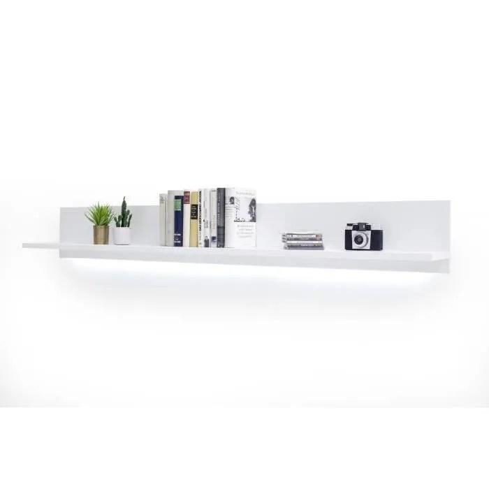 etagere murale laque blanc l180 x h24 x p25 cm