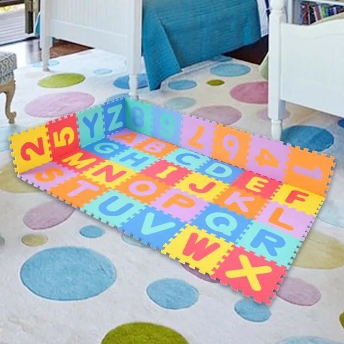 costway 86 pcs tapis de puzzle en mousse tapis jeu