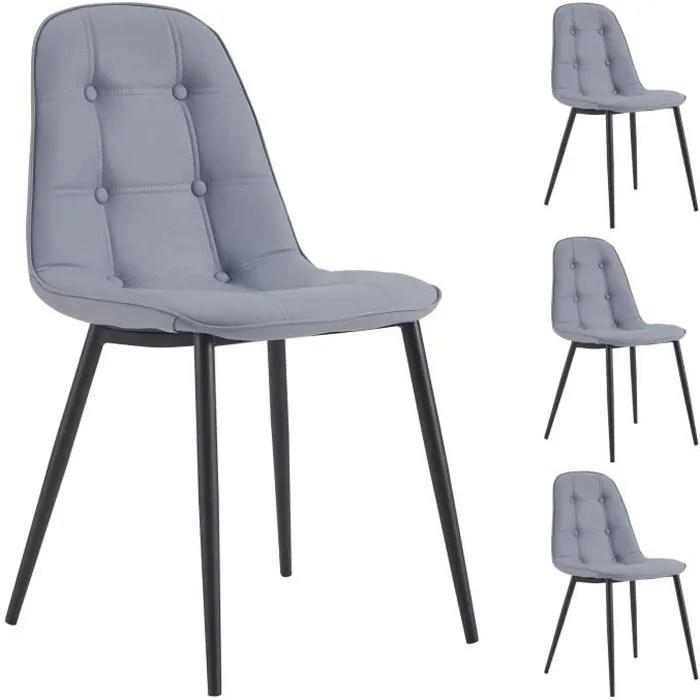 lot de 4 chaises alvaro pour salle a
