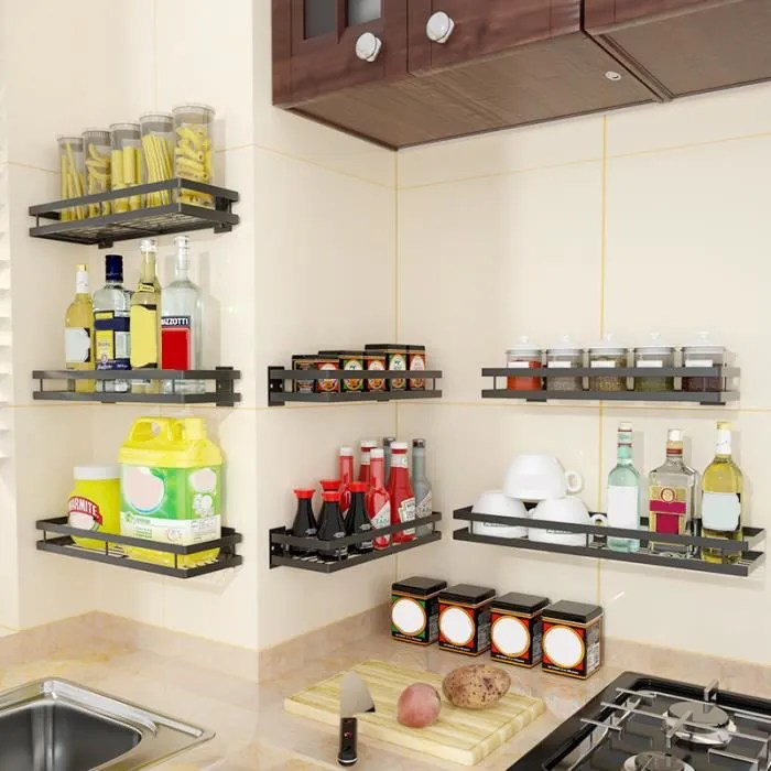 etagere rangement cuisine etagere murale cuisine etagere a epices cuisine 40cm