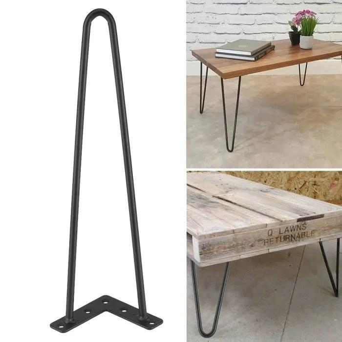 4 pcs pied de table jambe de table accessoires pour meubles 16 pouces