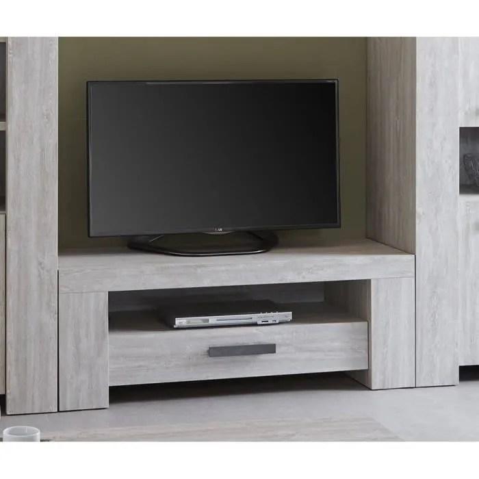 meuble tv couleur chene blanchi contemporain suzon