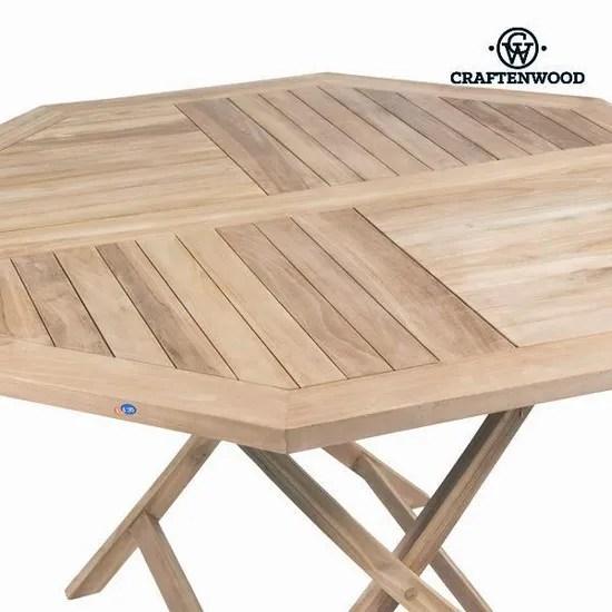 ensemble table de jardin octogonale en