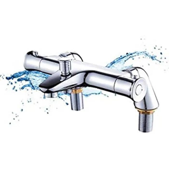 mitigeur thermostatique baignoire robinet thermost