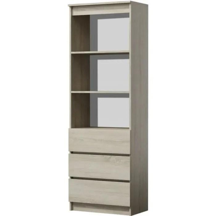 catania meuble de rangement avec casiers bureau salon chambre 35x60x180 bibliotheque contemporaine etageres livres deco