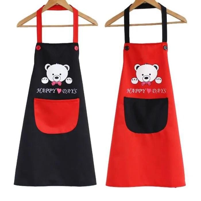 tablier de cuisine avec poche pour homme amoureux des ours mignons tablier de cuisine et de cuisson tablier de rouge